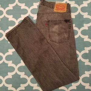 Levi's 513 Charcoal Gray Stone Washed Jeans